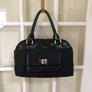 Kate Spade Satchel Black Nylon & Paten Leather